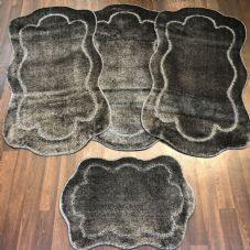 ROMANY WASHABLE TRAVELLERS MATS SETS OF 4 NON SLIP TOURER SIZE THICK DARK GREY